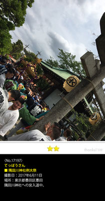 てっぽうさん:隅田川神社例大祭, 2017年6月11日, 東京都墨田区墨田