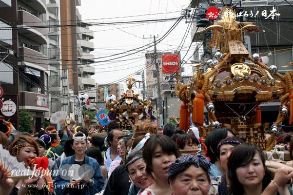浦安三社祭〈前:当代島 婦人連/後:西組〉@2012.06.17