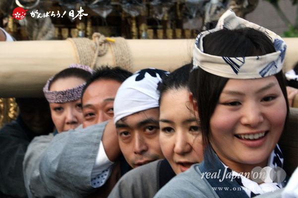 〈鉄砲洲祭〉宮元(湊一・湊二)(神輿台輪寸法: 3尺3寸)@2012.05.04