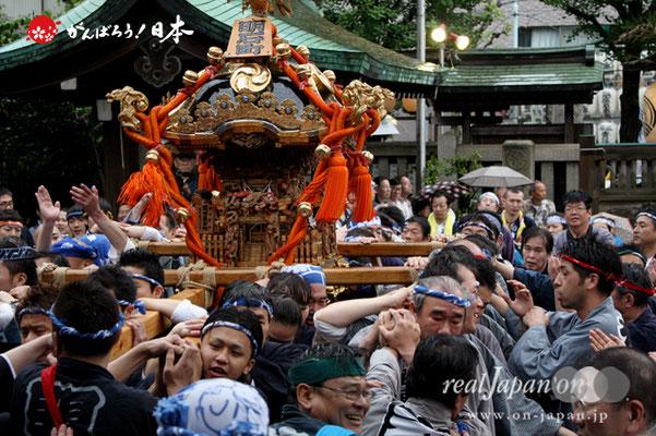 〈鉄砲洲祭〉明石町(神輿台輪寸法: 2尺)@2012.05.04
