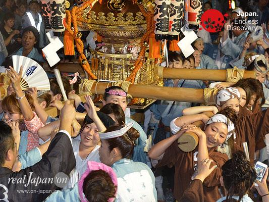 〈八重垣神社祇園祭〉女神輿連合渡御:上出羽町区 @2017.08.04 YEGK17_012