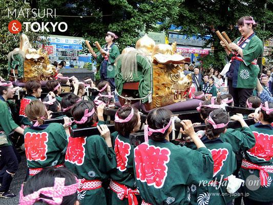 〈神田祭 2017.5.14〉江戸神社奉賛会(旧神田市場) 獅子頭 ©real Japan'on -knd17-016