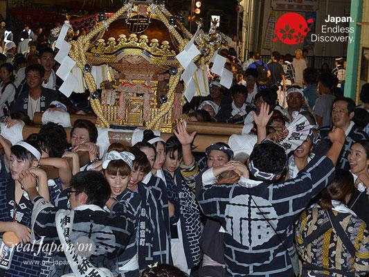 〈八重垣神社祇園祭〉女神輿連合渡御:福富町区 @2017.08.04 YEGK17_020