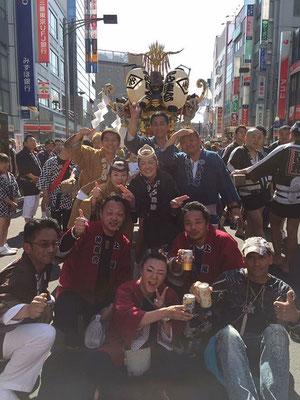〈GP-17004〉 眞正會さん:赤羽馬鹿祭り・2017年4月30日・ 赤羽