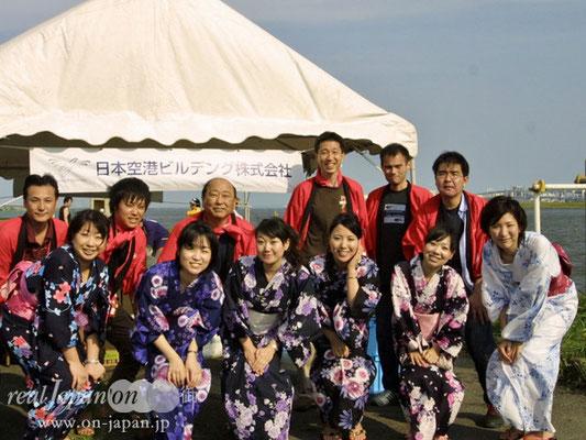 日本空港ビルデング株式会社さん。夏といえば祭りですね。地域との交流は大切にしたいです。(編集部:お茶ご馳走様でした!)