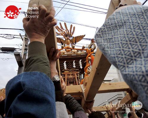 福樹會・設立一周年記念神輿渡御, 平成29年12月16日, 千葉県浦安市, 地ずり, 地スリ