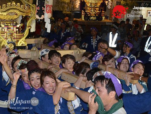 〈八重垣神社祇園祭〉女神輿連合渡御:東本町区 @2017.08.04 YEGK17_017