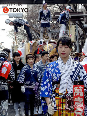 〈建国祭 2018.2.11〉手古舞道中連-立川同心會 ©real Japan'on : kks18-002