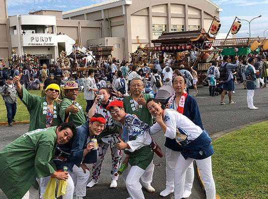 〈GP-19008〉 圭さん:よこすかみこしパレード・2019年10月20日・コメント:大好きな仲間達と記念の一枚