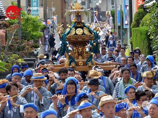 〈八重垣神社祇園祭〉神輿連合渡御:横町区 @2018.08.05 YEGK18_017