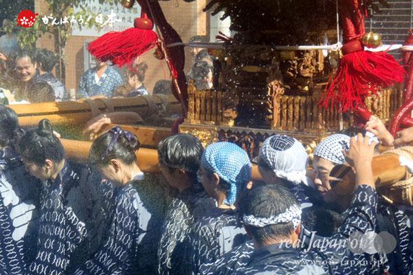 〈深川神明宮例大祭〉神輿連合渡御 十一番: 新大橋三丁目 @2012.08.19
