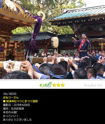 ばねつーさん:根津神社つつじ祭り, 2018年4月8日, 文京区根津