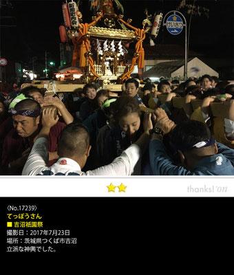 てっぽうさん:姉崎神社夏季例大祭, 2017年7月23日, 茨城県つくば市吉沼