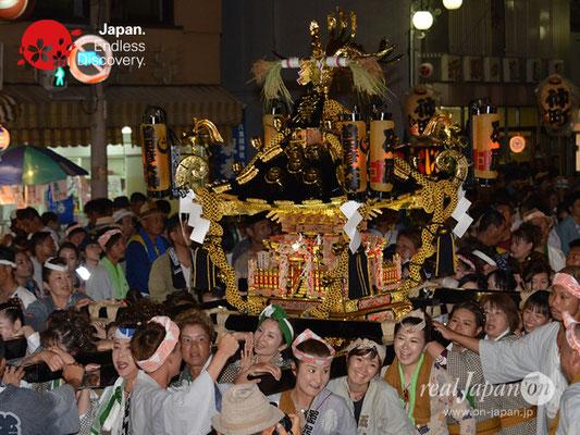 〈八重垣神社祇園祭〉女神輿連合渡御:砂原区 @2018.08.04 YEGK18_004
