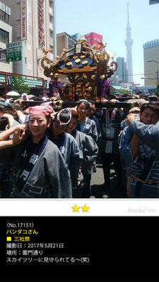 パンダコさん:三社祭, 2017年5月21日,雷門通り