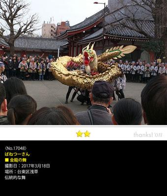 ばねつーさん:金龍の舞, 2017年3月18日