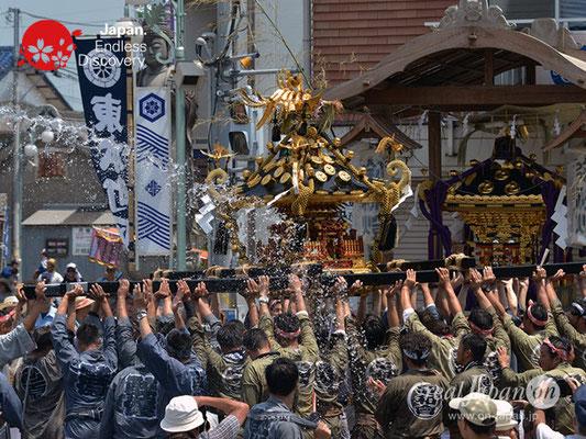 〈八重垣神社祇園祭〉神輿連合渡御:砂原区 @2018.08.05 YEGK18_021