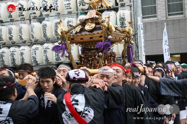 〈鉄砲洲祭〉入船一丁目(神輿台輪寸法: 2尺)@2012.05.04
