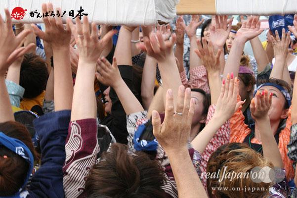 浦安三社祭〈猫実五丁目〉放り受け @2012.06.17