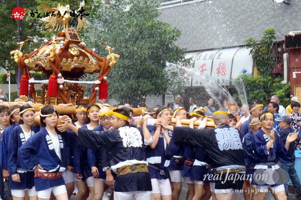 〈富岡八幡宮例大祭〉神輿連合渡御 六番: 古石場西 @2012.08.12