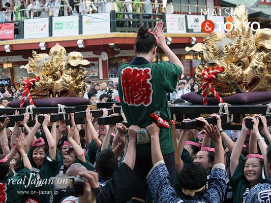 〈神田祭 2017.5.14〉江戸神社奉賛会(旧神田市場) 獅子頭 ©real Japan'on -knd17-044