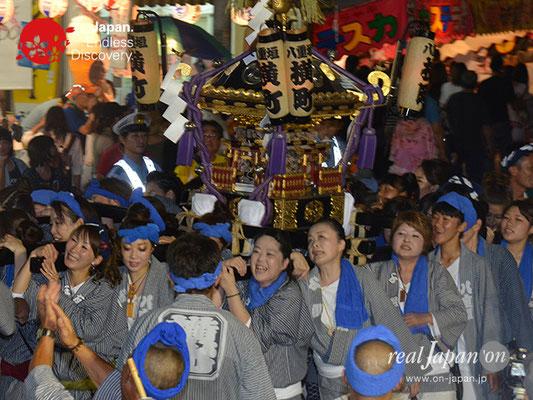 〈八重垣神社祇園祭〉女神輿連合渡御:横町区 @2017.08.04 YEGK17_015