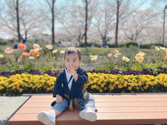<s20-180>あやみさん:桜とお花/4月4日/荒子川公園
