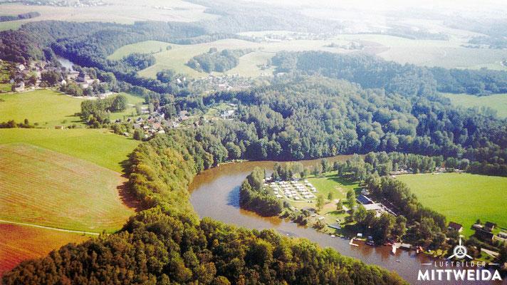 Zeltplatz Lauenhain mit Blick auf Ringethal