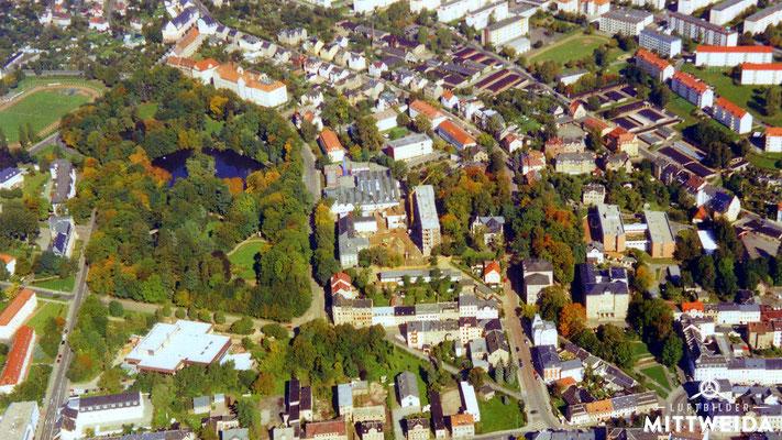 Schwanenteich, Mensa, Campus