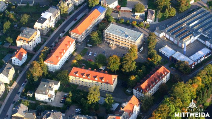 Wohnheime am Schwanenteich und Haus 8 der Hochschule