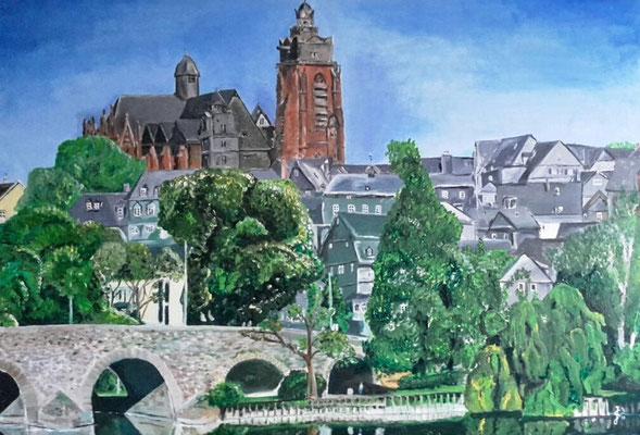 Altstadtansicht Wetzlar, 100 x 70, Acryl auf Leinwand