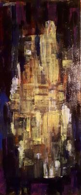 Goldene Stadt, 30 x 70, Acryl auf Leinwand