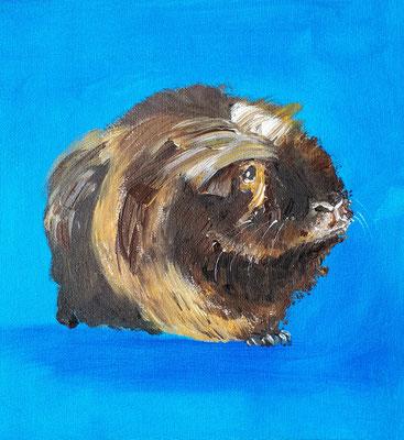 Meerschweinchen III, Acryl auf Leinwandbogen