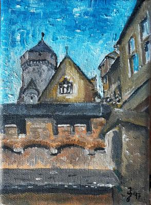 Im Schloss Braunfels II, 13 x 18, Acryl auf Leinwand