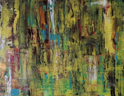 Herbstwald, 40 x 50, Acryl auf Karton