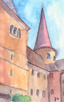 Michaelskirche Fulda, 10 x 15, Aqarell auf Aquarellpapier