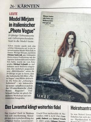 Bericht in der Kleinen Zeitung