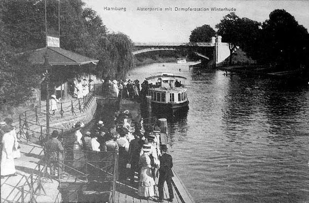 Alsterdampferanleger ca. 1900