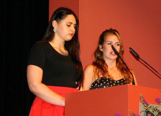 Abschlussrede unserer Schülersprecherinnen Amelie Zuber (10a) und Felicia Stroh (10c)
