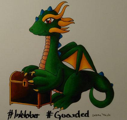 Guarded | Ein Drache der seinen Schatz beschützt.
