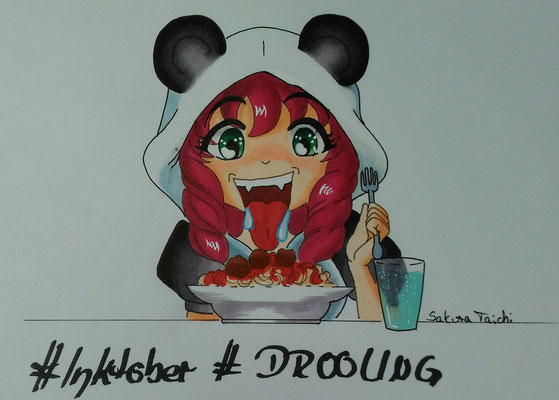 Drooling | Ich sabbernd beim Essen.