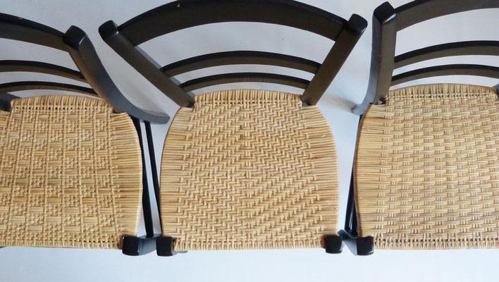 Cannage de lames ou cannage serré / Binder cane weaving