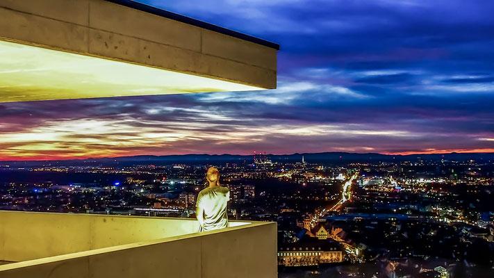 Der etwas surreale Blick auf Karlsruhe