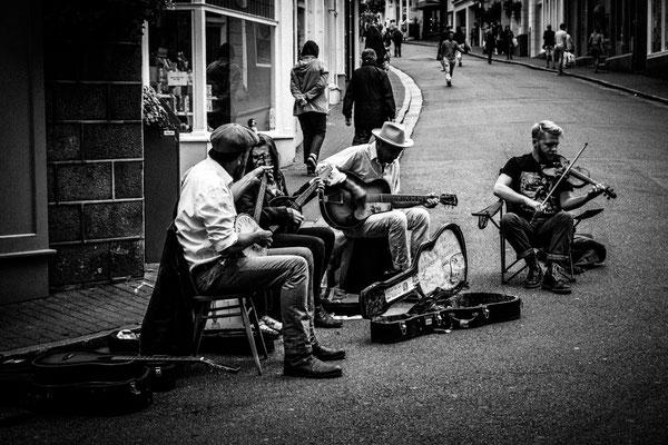 Straßenmusikanten in St. Peter Port/Guernsey