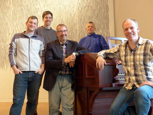 From left to right: Steven Grigoletti, Caleb Cassidy, Jeff Weiler, Peder Sandgaard, Bernhard Ruchti