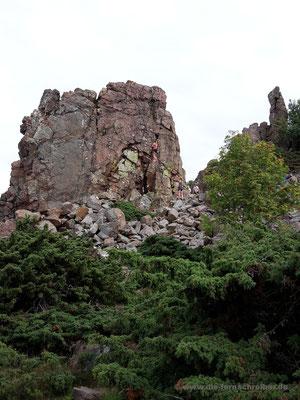 Kletterer in der Wand