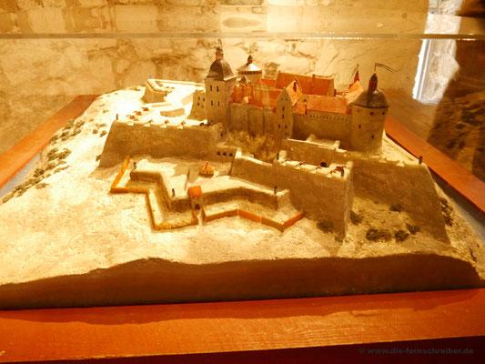 Modell des früheren Aussehens der Festung