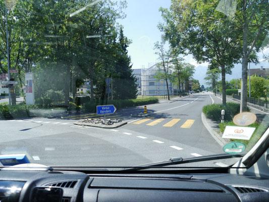 Weiter Richtung Liechtenstein-Hauptstadt Vaduz