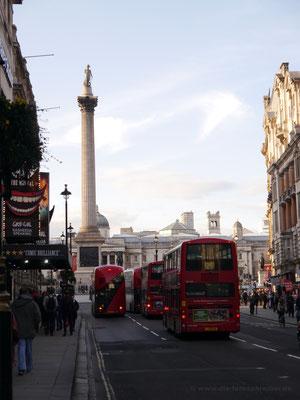 Blick zurück zum Trafalgar Square