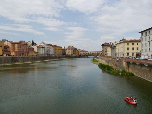 Auf der Brücke Ponte alle Grazie